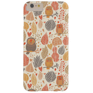 Autumn pattern. Owls in the forest Barely There iPhone 6 Plus Case