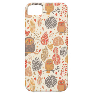 Autumn pattern. Owls in the forest Case For The iPhone 5