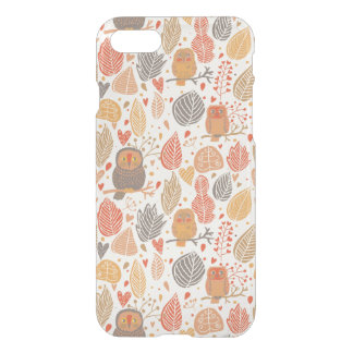 Autumn pattern. Owls in the forest iPhone 8/7 Case