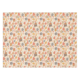 Autumn pattern. Owls in the forest Tablecloth