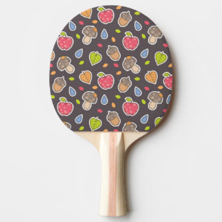 autumn pattern ping pong paddle