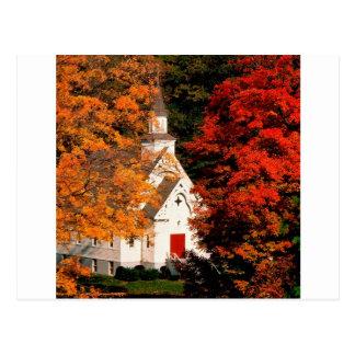 Autumn Peaking Color Vermont Postcard