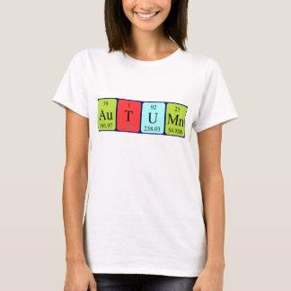 Autumn periodic table name shirt