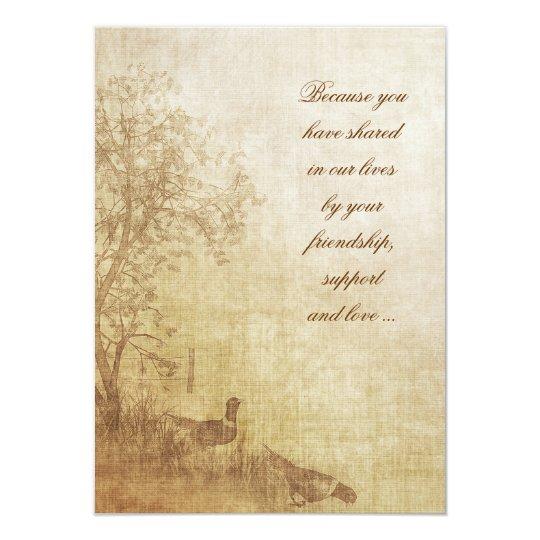 Autumn Pheasant Vow Renewal Invitation