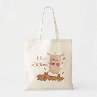 Autumn piggy tote