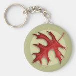 Autumn Pin Oak Leaf Keychain