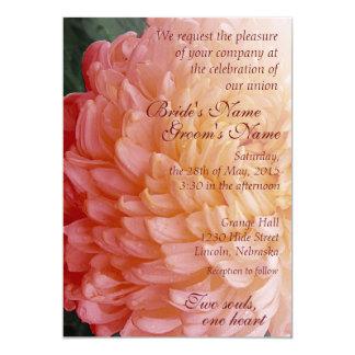 Autumn Pink Chrysanthemum Wedding Invite 2