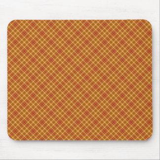 Autumn Plaid Pattern Design Texture Mouse Pad