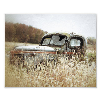 Autumn Pleasure -Old Truck In Fall Art Photo