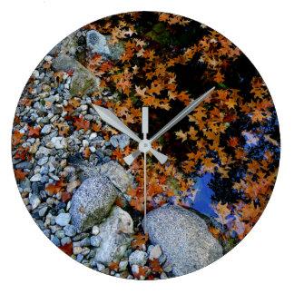Autumn Pond Large Clock