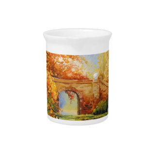 Autumn pond pitcher