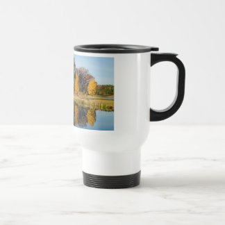 Autumn Pond Reflection Travel Mug