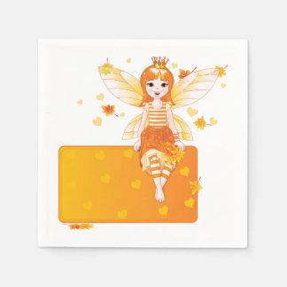 Autumn Princess Fairy Paper Napkins Disposable Serviette