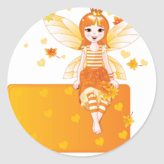 Autumn Princess Fairy Stickers