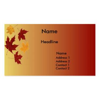 Autumn Profile Card Business Card Template