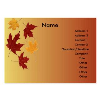 Autumn Profile Card Business Card Templates