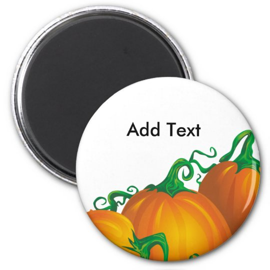 Autumn Pumpkin Customisable Magnet