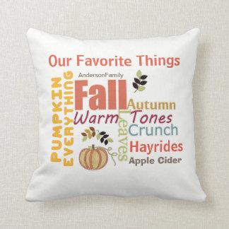 Autumn Pumpkin Everything Square Pillow