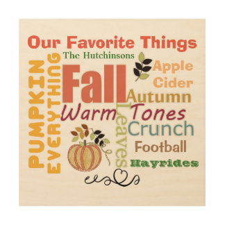 Autumn Pumpkin Everything Wood Wall Art