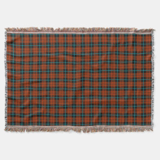 autumn pumpkin orange plaid, black blue stripe throw blanket