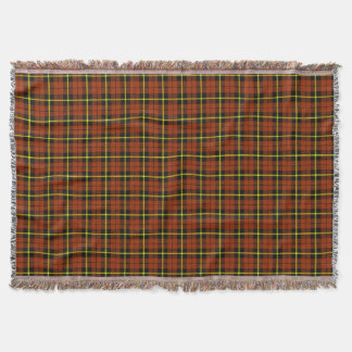 autumn pumpkin orange plaid, black yellow stripe throw blanket