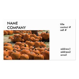 autumn pumpkin patch pack of standard business cards