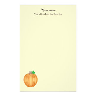 Autumn pumpkin personalized stationery