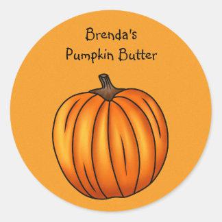 Autumn pumpkin round sticker