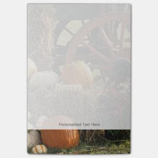 Autumn Pumpkins And Mum Display Post-it® Notes