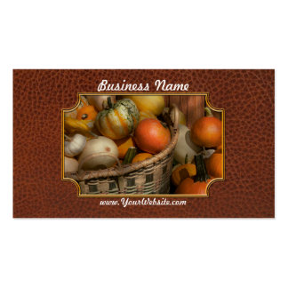 Autumn - Pumpkins in a basket Pack Of Standard Business Cards