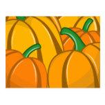 Autumn Pumpkins Postcard