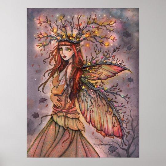 Autumn Queen Fairy Fantasy Art by Molly Harrison