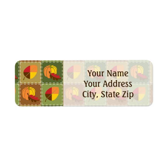 Autumn Quilt Return Address Label