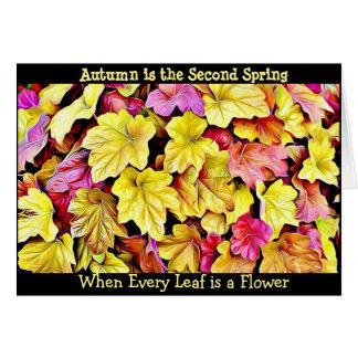 Autumn Quote Fall Leaves Pretty Seasonal Card
