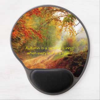 Autumn quote gel mouse pad