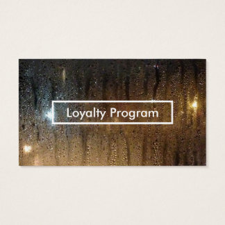 autumn rain loyalty program business card