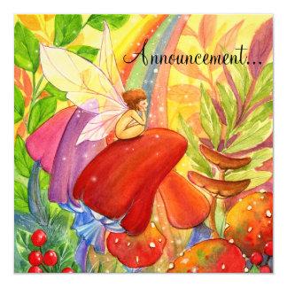 Autumn Rainbow , 13 Cm X 13 Cm Square Invitation Card