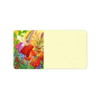 Autumn Rainbow Labels