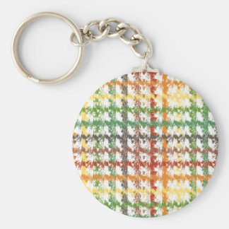 Autumn Rainbow Scratch Basic Round Button Key Ring
