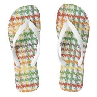 Autumn Rainbow Scratch Flip Flops