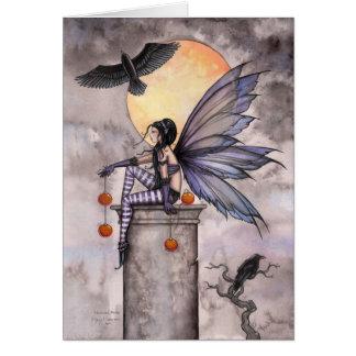 Autumn Raven Fairy Card by Molly Harrison