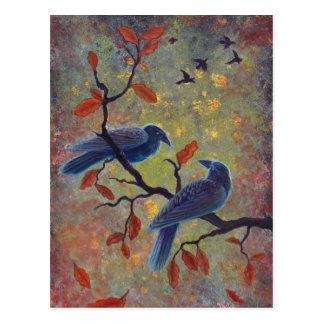 Autumn Ravens Postcard