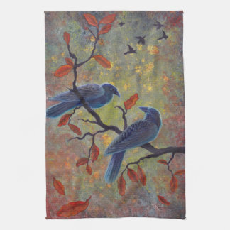 Autumn Ravens Tea Towel