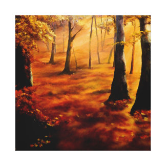 Autumn red and gold canvas print