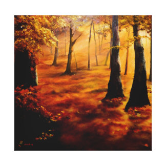 AUTUMN RED AND GOLD. CANVAS PRINT