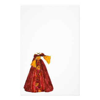 Autumn Red Gown Customised Stationery