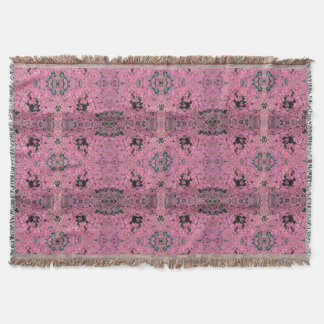 Autumn Red Leaves on Rosehill 780 - 2 repeat Throw Blanket