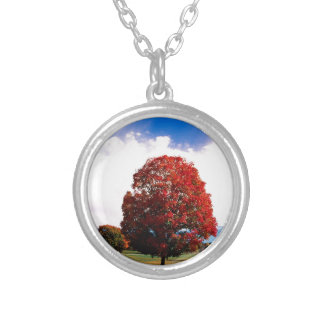 Autumn Red Maple Tree Forest Clermont Kentucky Custom Jewelry