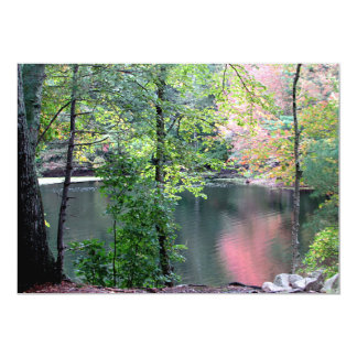 Autumn reflection 13 cm x 18 cm invitation card