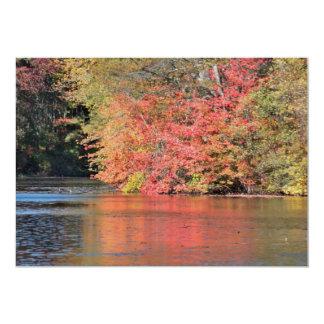 Autumn reflections 13 cm x 18 cm invitation card